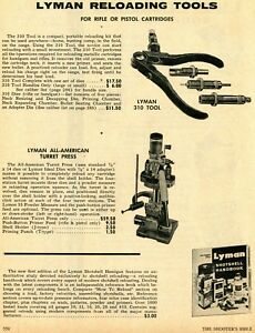 1971 Print Ad of Lyman 310 Reloading Tool & All-American Turret Press
