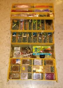 RARE Vintage Old Pal Woodstream 2100 Tackle Box  Loaded With Tackle