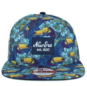 New Era 9Fifty Tropical Print Blue Snapback Baseball Cap