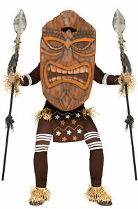 Tiki Warrior Indian Native American Tribal Party Adult Costume