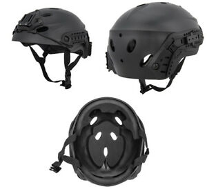 Lancer Tactical Special Forces Recon Style Airsoft Mil-Sim Helmet in Black