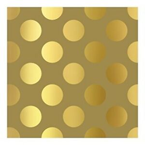 The Gift Wrap Company 8#x27; Gift Wrap Roll Golden Dots 76 3665