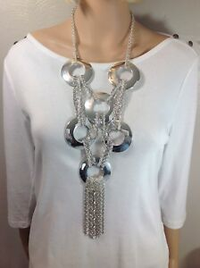Chico's Gorgeous Silver  Statement Necklace