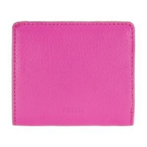 New Fossil Emma Ladies Hot Pink Leather Wallet A1