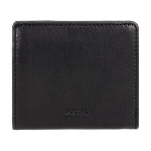 New Fossil Emma Ladies Black Leather Wallet A1
