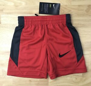 NIKE BOYS DRY FIT SHORTS BASKETBALL SIZE 4 TODDLE 3-4YRS COLOR UNIV RED NWT