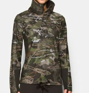 Womens Under Armour Camo Ridge Reaper Forest Jacket sweatshirt Scent Control NWT