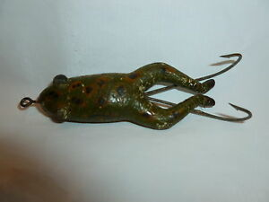 "Vintage 3"" Unmarked (Pflueger Conrad?) Rubber Frog Fishing Lure  Lot 3-207"