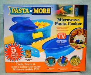 6 PC Pasta N More Steamer As Seen On TV Microwave Pasta Cooker NEW Dorm OFFICE