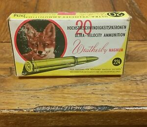 Weatherby box .224 Weatherby Magnum  empty fox box (Extremely Rare Version)