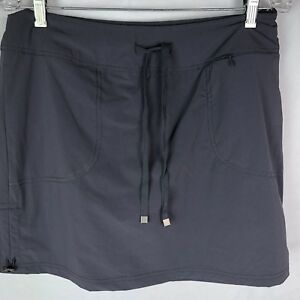 Green Tea Tennis Skirt Sz L Gray Nylon Pockets Shorts under Golf Grey $29.16