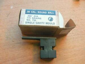 Vintage Thompson Center Arms Single Cavity .490  Round Ball Mold with Box