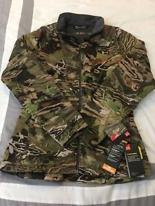 Under Armour Storm Brow Tine Women Jacket Quilted Hunting  Forest Camo 1316695