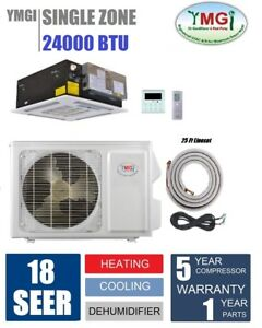 YMGI 24000 BTU Ceiling Cassette Mini Split Air Conditioner heat pump EC