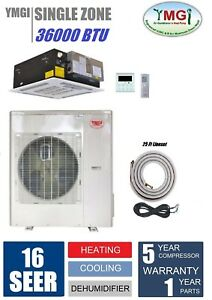 YMGI 36000 BTU Ceiling Cassette Mini Split Air Conditioner Heat Pump NHTE