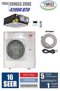YMGI 42000 BTU Ceiling Cassette Mini Split Air Conditioner Heat Pump 543