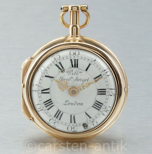 A very fine quarter repeating gold verge fuse Pocket Watch  circa 1730