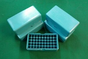 9mm (380) .357 Plastic Storage Ammo Box 50rd Removable Lid  Lot of 5