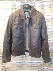 Guess Leather Jacket Men's Size L
