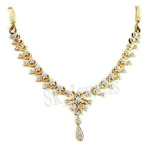 6.84ct NATURAL DIAMOND  14K SOLID YELLOW GOLD WEDDING ANNIVERSARY NECKLACE