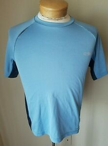 Champion Men's Duo Dry Lt Blue Athletic T-Shirt Gym Quick Dry Running Fitness S