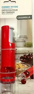 Casabella Cherry Pitter Kitchen Tool, Red and White