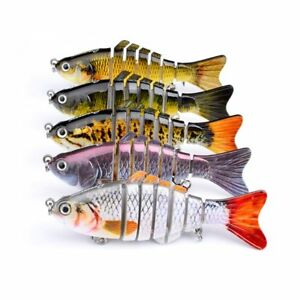 PUSTOR Segment Swimbait Crankbait Fishing Lures Hard Baits Lifelike for Pike of