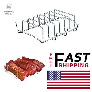 CAMP CHEF Rib Rack BBQ Grill Lightweight Durable Oven Smoker Patio Kitchen