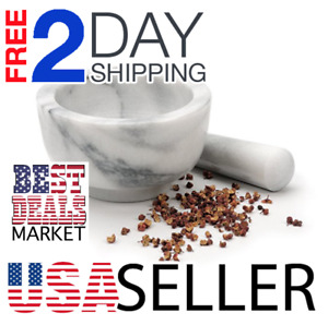 Brand New USA Made White Marble Mortar and Pestle RSVP