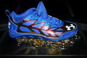 UNDER ARMOUR MLB 2013 ALL STAR GAME CLAYTON KERSHAW CLEAT SIGNED AUTOGRAPHED