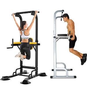 Dip Station Chin Up Bar Power Tower Pull Stretch Training Home Gym Fitness Core
