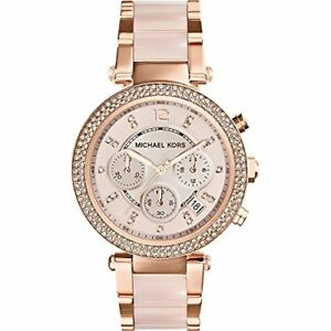 Michael Kors Women's Parker Rose Gold-Tone Stainless Steel Bracelet Watch
