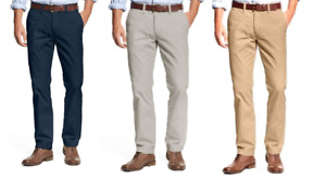 Tommy Hilfiger Men#x27;s Tailored Fit Flat Front Chino Pants $24.99