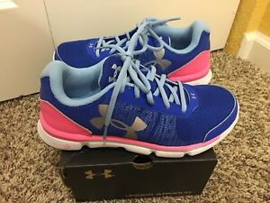 UNDER ARMOUR MICRO G ASSERT 6 shoes for girls, NEW, US size Youth 5Y,23.5cm $35.00