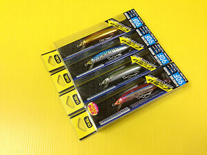 Lot D of Four 90mm Duel Hardore Floating Minnow 90F in 4 Colors Japan Lure NIB.