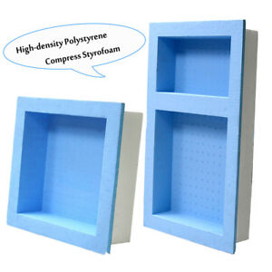 New Preformed Double Recessed Shower Niche Ready to Tile Wide Combo Waterproof $34.98