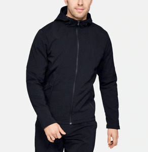 Jacket Under Armour 1320950 Man Storm Black Sweatshirt Zip Hoodie Hood Sport Run