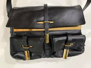 NWT Maiyet Designer Black Leather Crossbody Gold Hardware Purse Bag $1850.00 NEW