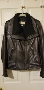 Michael Kors Black Leather Moto Jacket Size Small - soft 100% leather