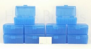 BERRY'S PLASTIC AMMO BOXES (10) 50 ROUND 22 HORNET  30 CARBINE - FREE SHIPPING