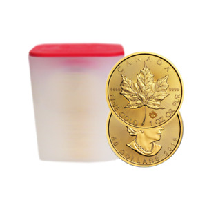 Lot of 20 - 2019 $50 Gold Canadian Maple Leaf .9999 1 oz Brilliant Uncirculated