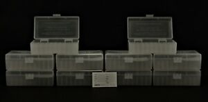 BERRY'S PLASTIC AMMO BOXES (10) CLEAR 50 Round 44 SPL & MAG  MORE-FREE SHIPPING