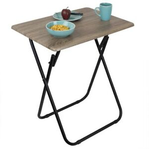 Home Basics Jumbo Multi-Purpose Foldable Table Rustic - TT47892