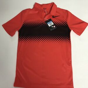 NIke Dry fit size M Boys Red short sleeve Polo Style golf shirt EUC