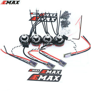 4x EMAX RS2205S 2300KV RaceSpec Brushless Motor With Bullet 30A ESC