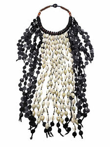 Fashion Jewelry Cowrie Shell Necklace Statement Bib Boho Ethnic Choker NK8461