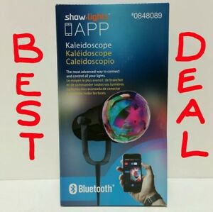 Show Lights LED Kaleidoscope Projector W/Phone APP Bluetooth Multi-Colored RGB