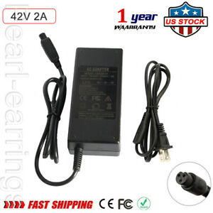 42V 2A AC Adapter Power Charger For 36v Self Balancing Hoverboard Scooter Pearl
