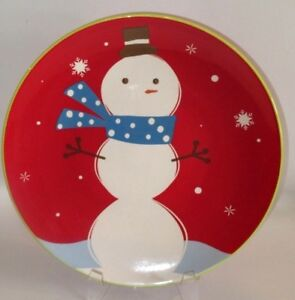Target Holiday 08 BE MERRY SNOWMAN Platter - NEW