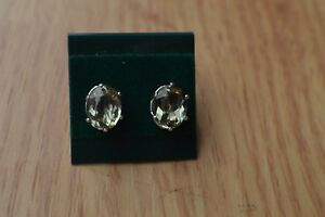 3.50ct Color Change Turkish Diaspore Solitaire Earrings Sterling Silver 9x7mm